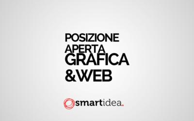 """LAVORA CON NOI. Posizione aperta: """"GRAFICA & WEB""""."""
